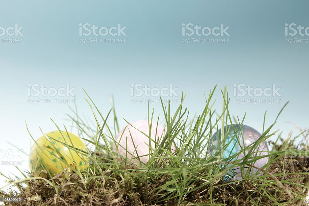 Grass and balls royalty-free stock photo