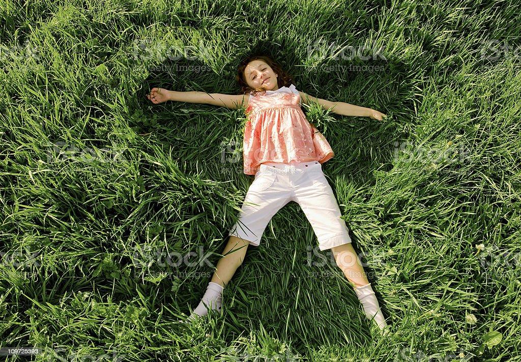 Grass Angel royalty-free stock photo