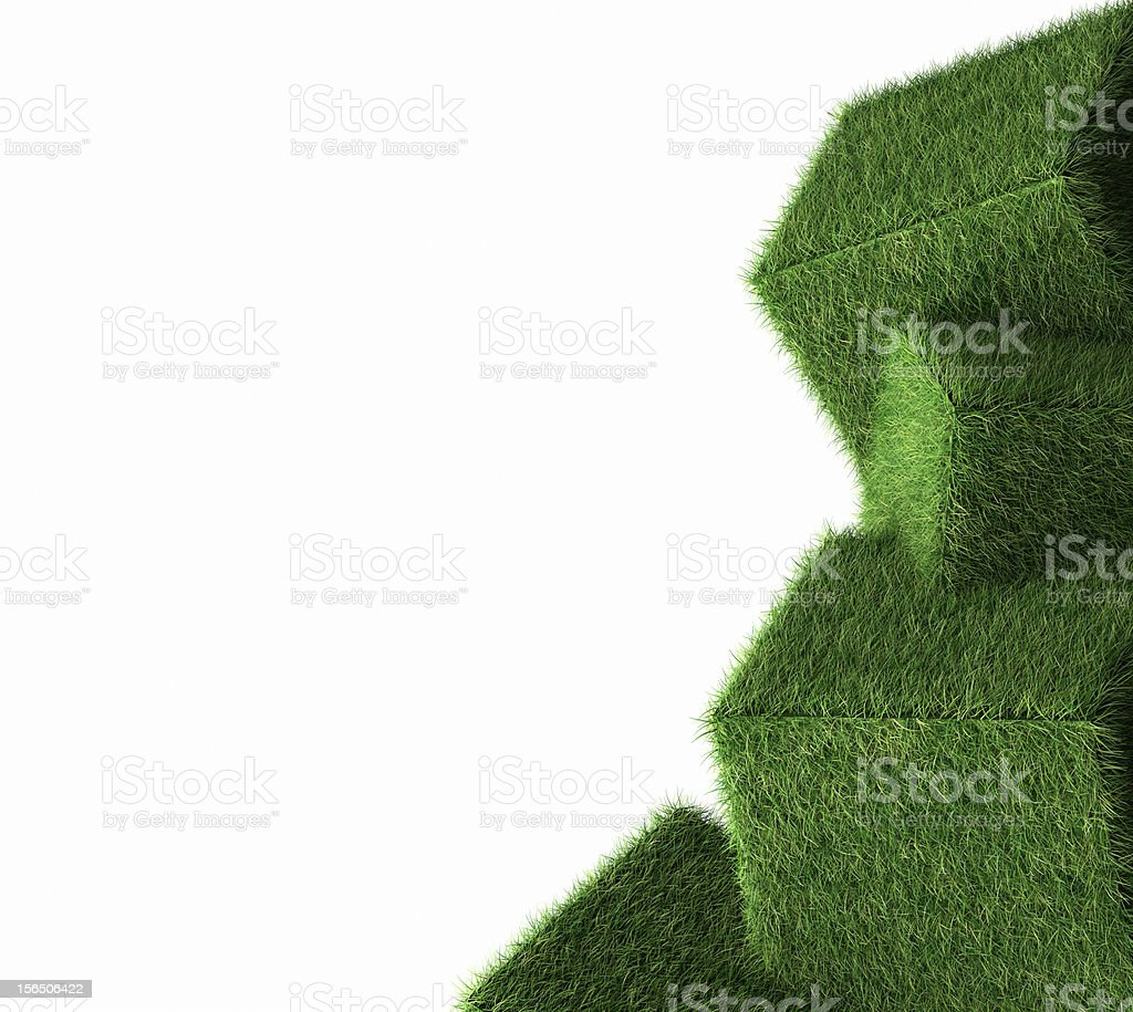 Grass Box With Eco And Green Concept On White Background