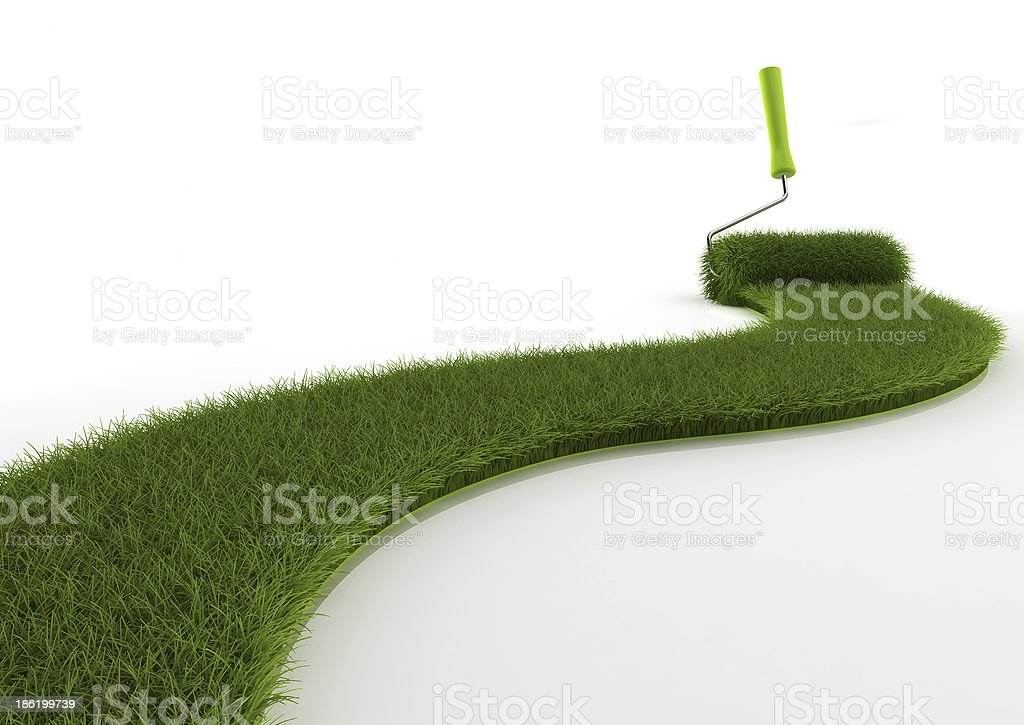 Grass brush royalty-free stock photo