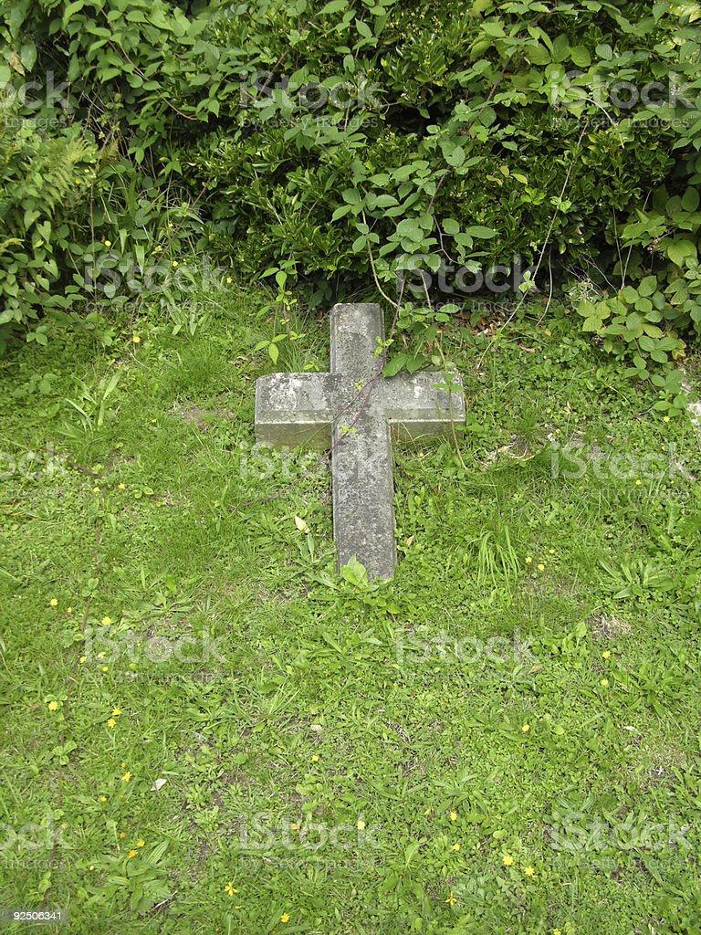grass cross royalty-free stock photo