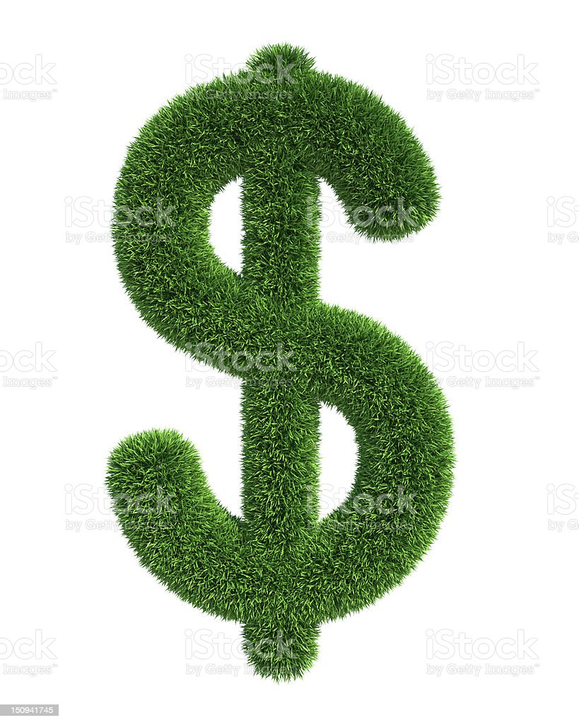 Grass dollar royalty-free stock photo