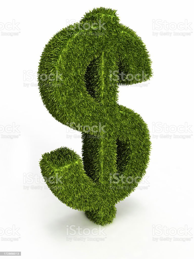 grass dollar royalty-free stock photo
