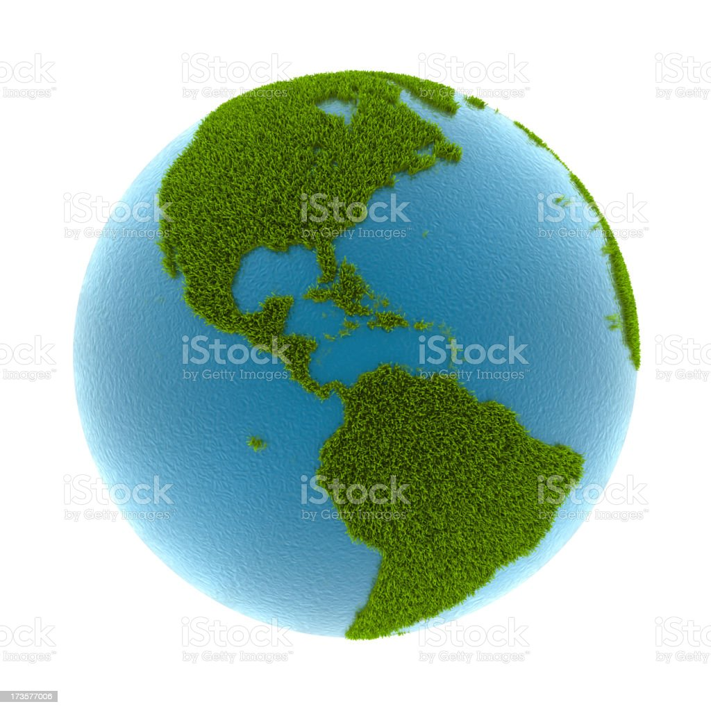 grass earth - North & South America stock photo