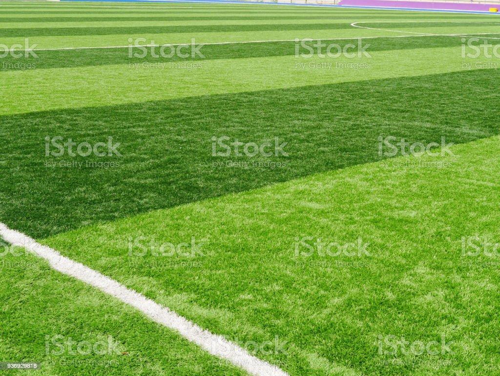 Grass field for football sport stock photo