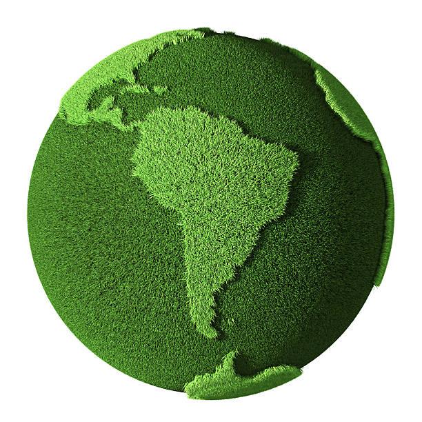 globo de grama-américa do sul - green world imagens e fotografias de stock
