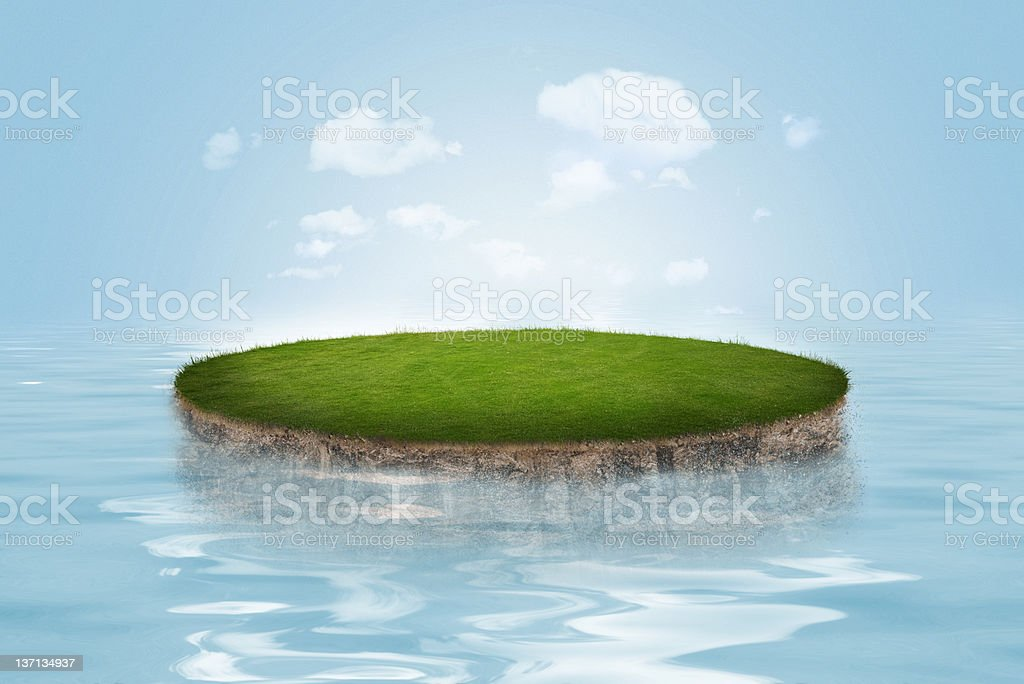 Grass Island royalty-free stock photo