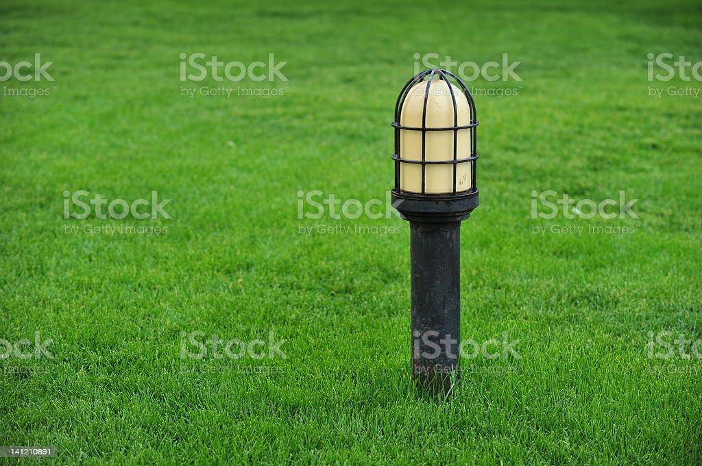 Grass lamp royalty-free stock photo