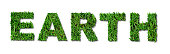 Grass Lettering - Earth
