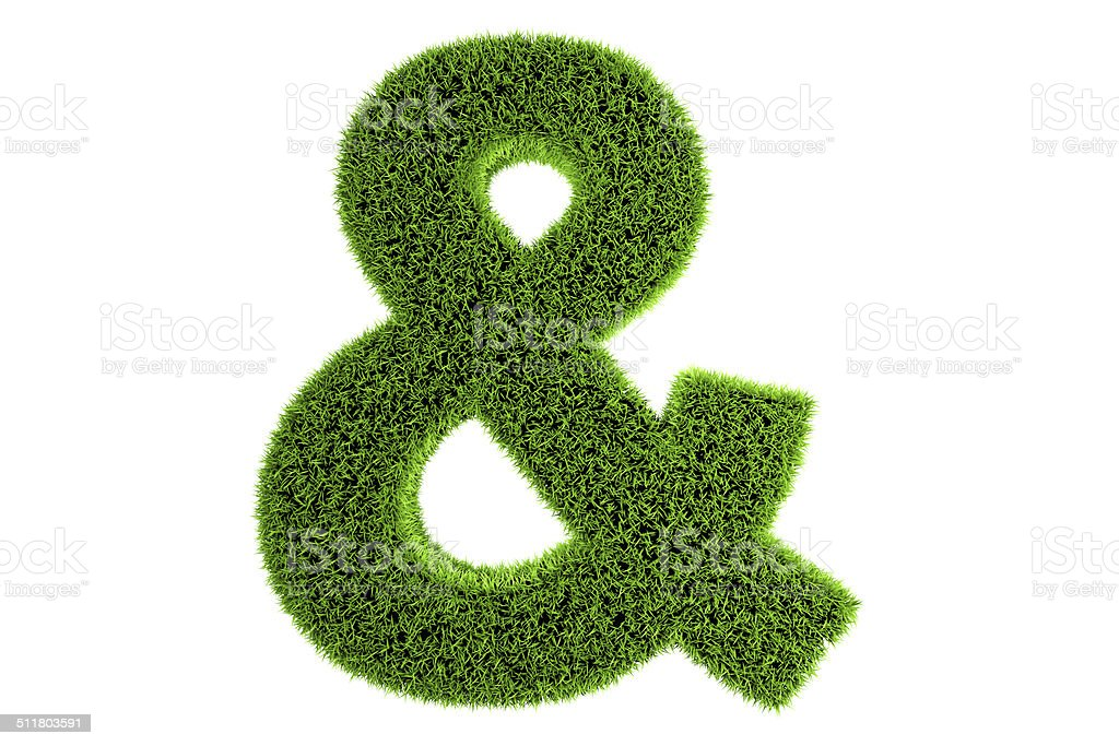 Grass Made 3d Symbol stock photo