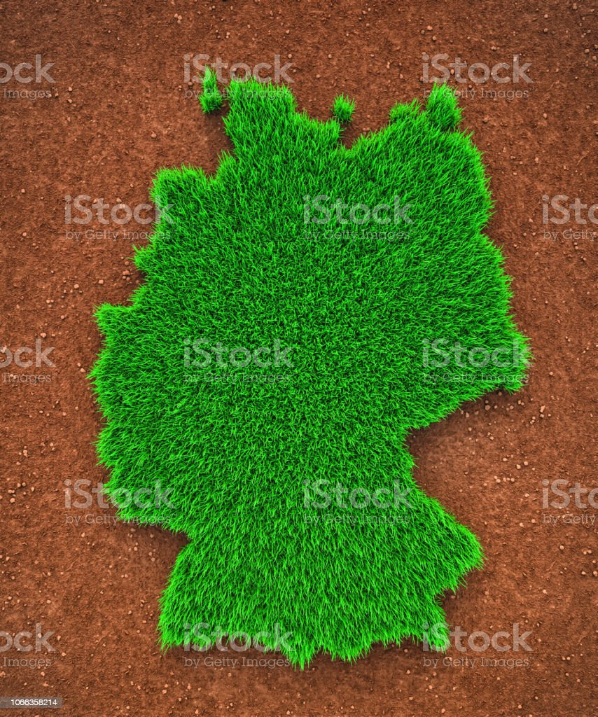 Grass map of Germany stock photo