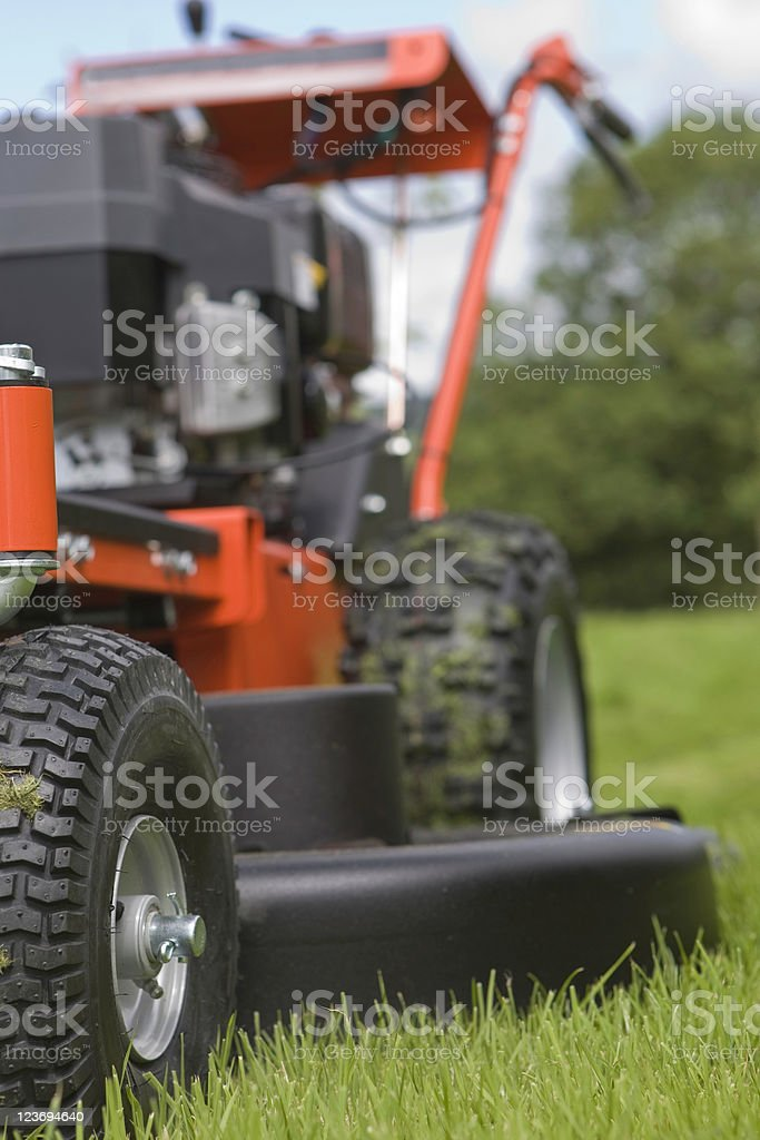 Grass Mower stock photo