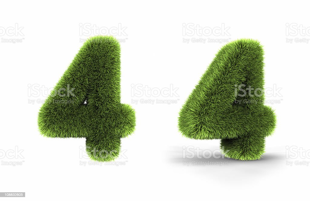 Grass Number Four royalty-free stock photo