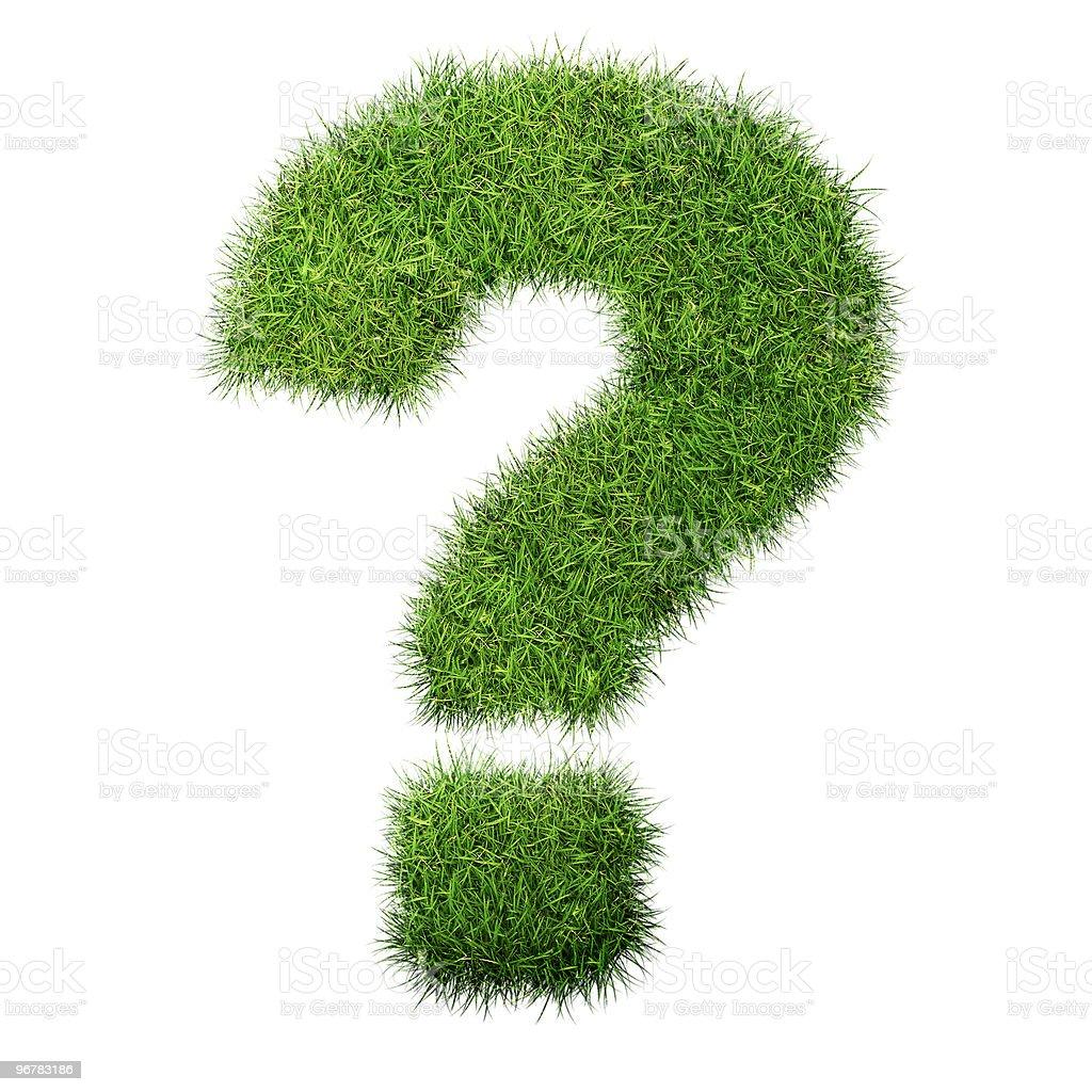Gras Fragezeichen – Foto