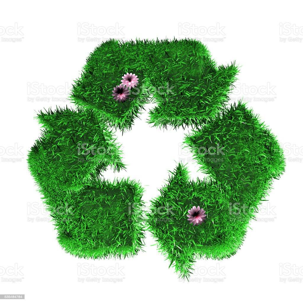 Grass Recycle Symbol stock photo