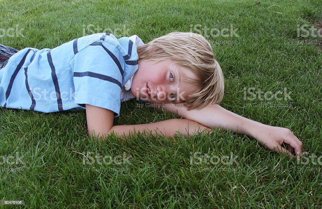 Grass Relax royalty-free stock photo
