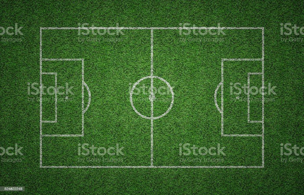 Grass Soccer Pitch stock photo