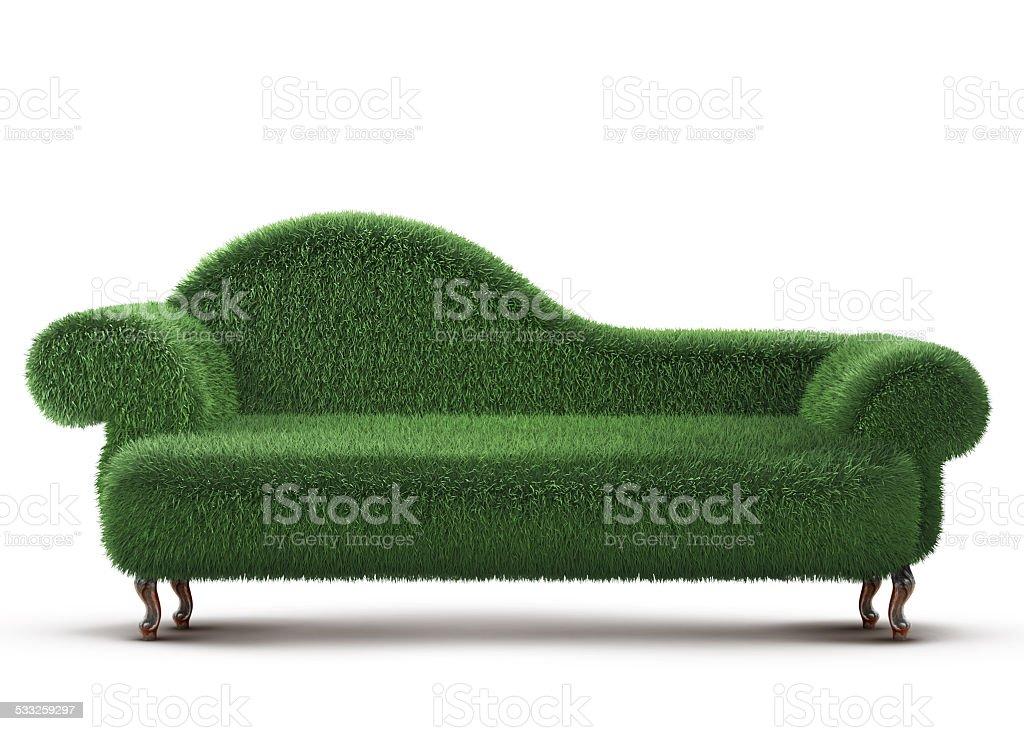 Grass Sofa stock photo