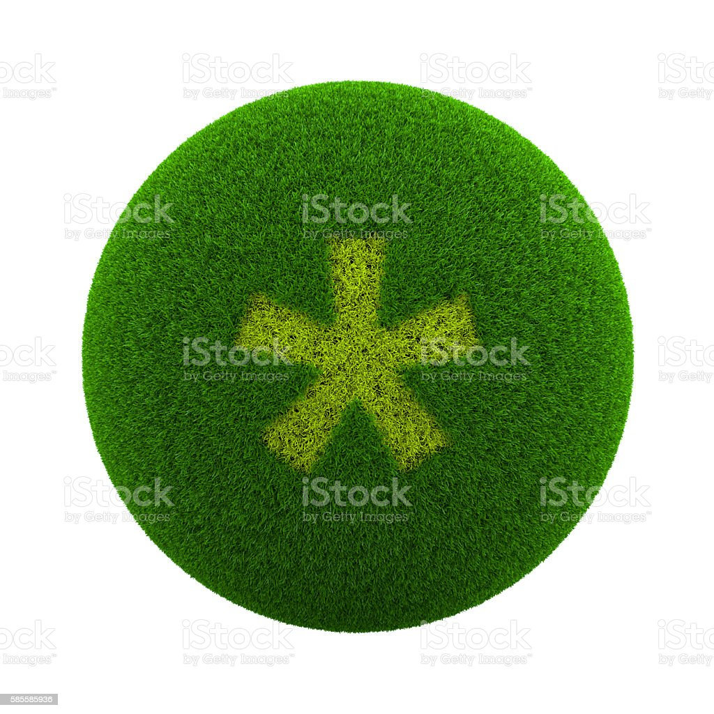 Grass Sphere Asterisk - foto stock