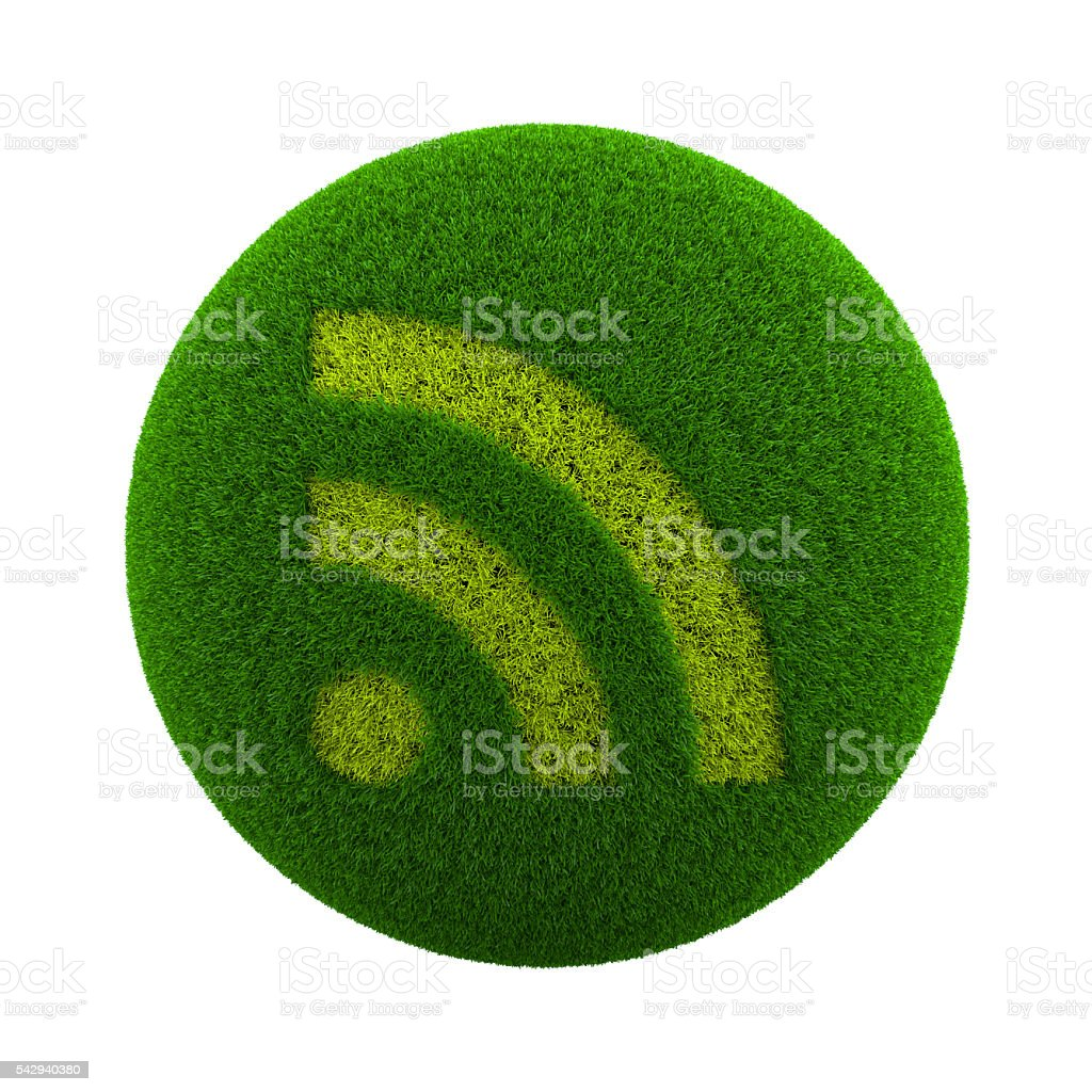 Grass Sphere RSS stock photo