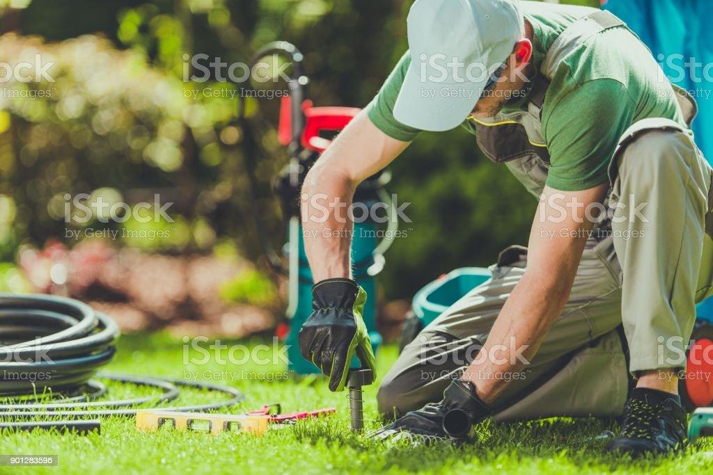 Gazon Sprinklers Installation - Photo