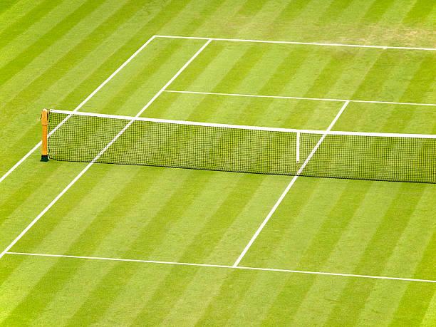 Grass Tennis Court stock photo