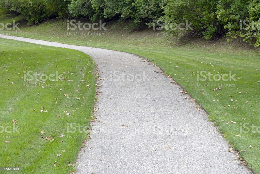 Grass with gravel path. royalty-free stock photo