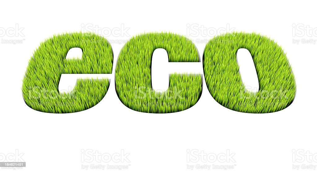 Grass word: eco royalty-free stock photo