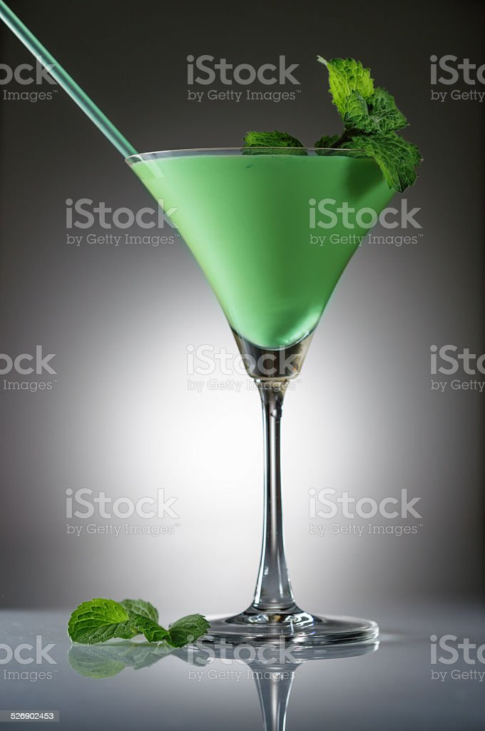 Grasshopper cocktail stock photo