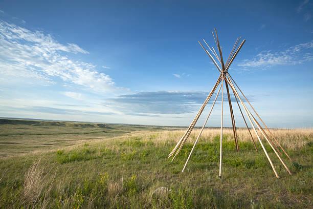 grasslands national park - weidentipi stock-fotos und bilder