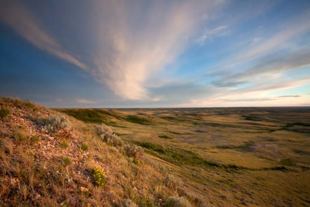 Grasslands National Park Saskatchewan Canada stock photo