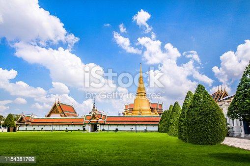 Grasslands Of Wat Phra Kaew In Bangokok, Thailand