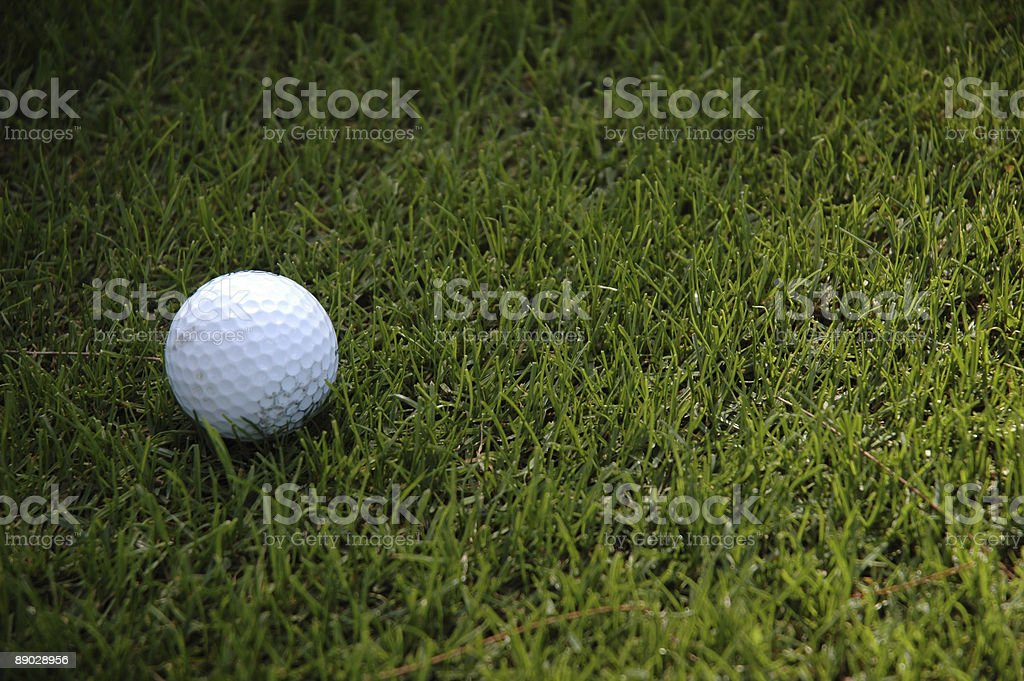grassy golf ball 免版稅 stock photo