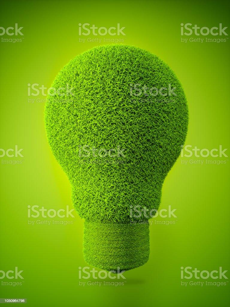 Grassy Lightbulb stock photo