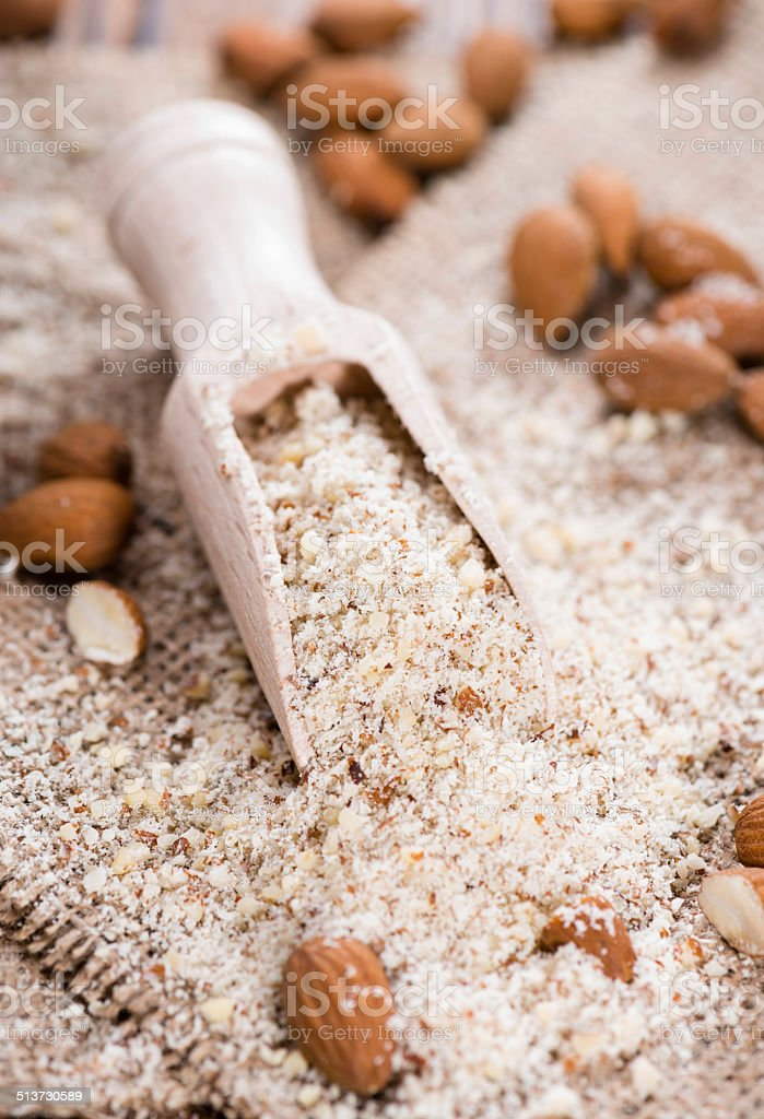 Grated Almonds stock photo