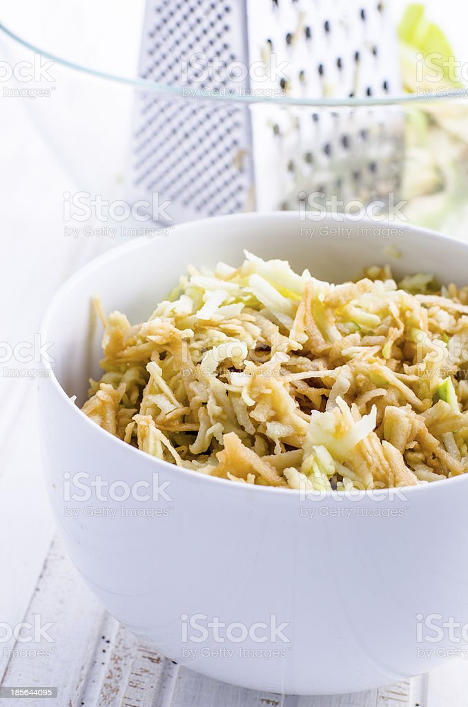 grated apple royalty-free stock photo