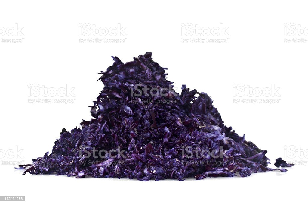 Grated Black Cabbages royalty-free stock photo