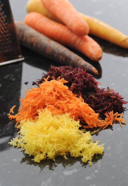 Grated Carrot bildbanksfoto