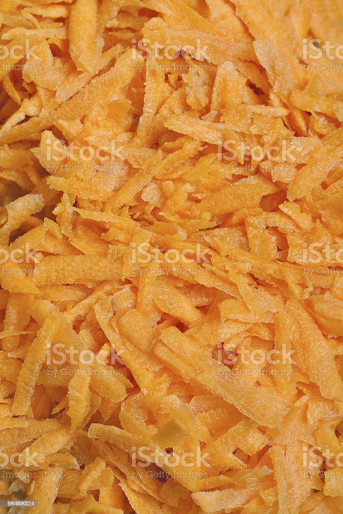 grated carrots royalty-free stock photo