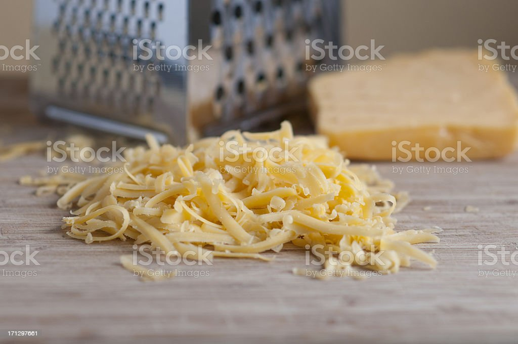 Grated Cheddar Cheese stock photo
