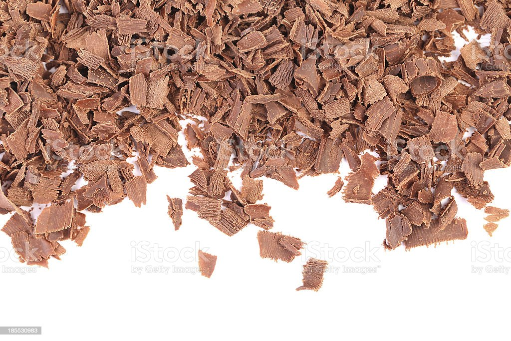 Grated chocolate. royalty-free stock photo