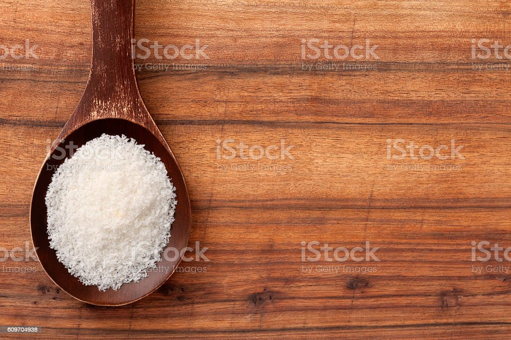 Grated coconut stock photo
