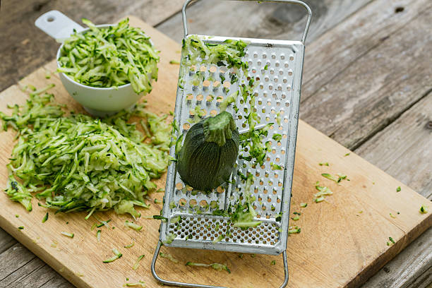 Grated Zucchini stock photo