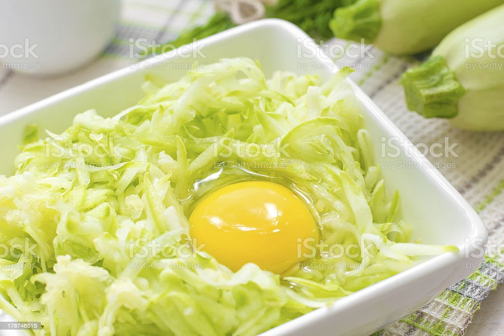 Grated zucchini with egg royalty-free stock photo