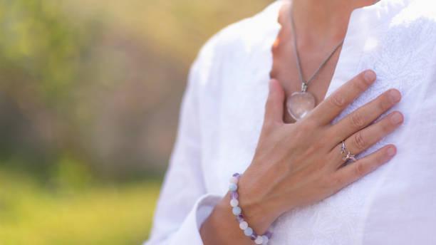 Dankbarkeit Meditation Handgeste – Foto