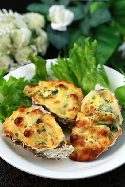 Gratin der oyster – Foto