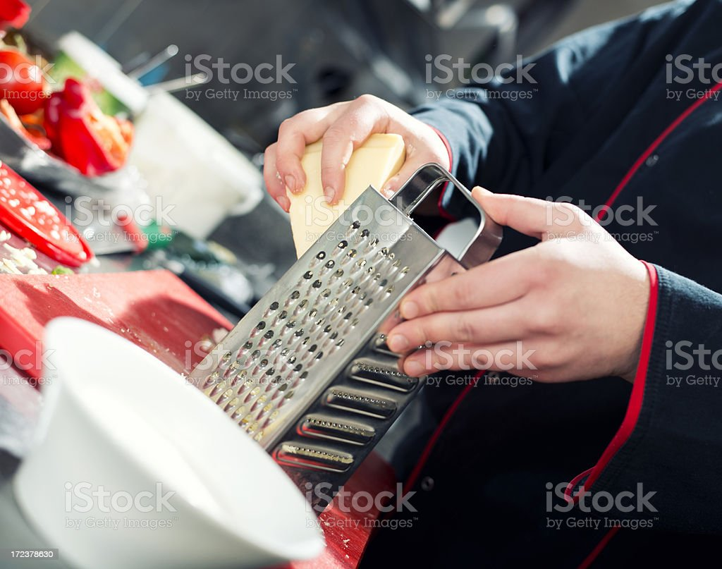 Grating Cheese royalty-free stock photo