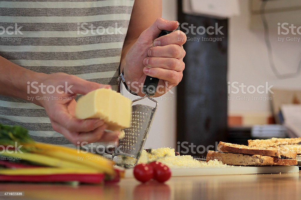 Grating Cheese stock photo