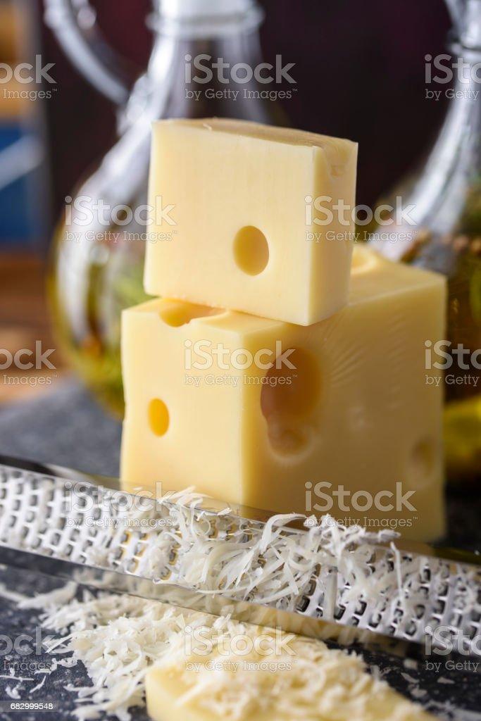 Grating Cheese foto de stock royalty-free
