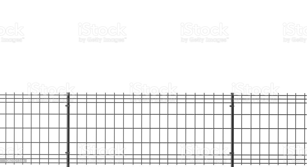 Grating Fence 3d Illustration Stock Photo - Download Image Now